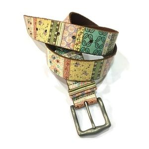 Fossil Leather colorful belt